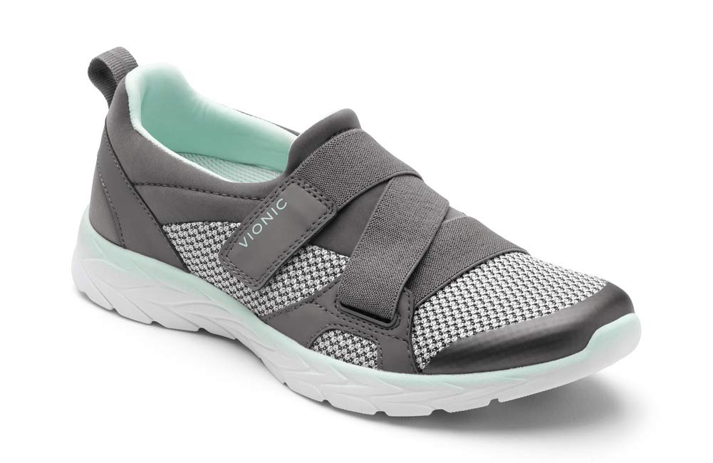 Vionic Women's Brisk Dash Slip-on Sneaker Grey Mint 10M