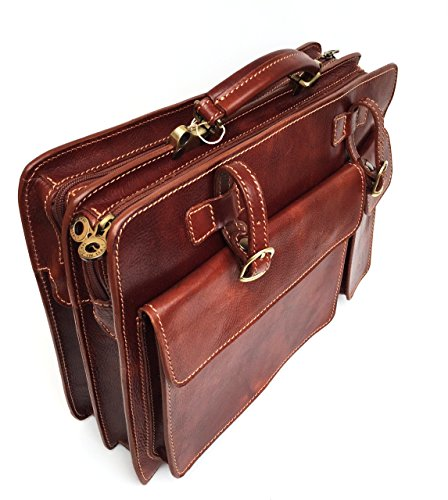 Borsa documenti modello Italy Made XL Marrone Pelle 40x29x11 Porta in Superflybags Cartella Tamponato Lux Vera Classic fdwnfq4ax