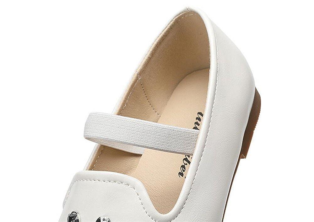 Girls Leather Rhinestone Princess Dress Mary Jane Flat Shoes
