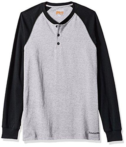 Timberland PRO Mens Cotton Core Long-Sleeve Henley Shirt