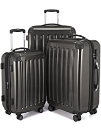 Luggages Sets Glossy Suitcase Sets Hardside Spinner Trolley Expandable (20', 24' & 28') TSA (Graphite)