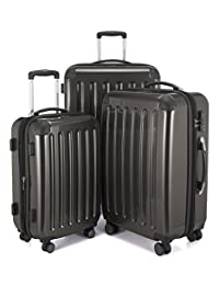 HAUPTSTADTKOFFER Alex Double Wheel Luggage Set 18 different colors Suitcase Set Size (20'24'28') Trolley TSA Graphite