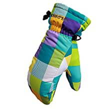 Happy Cherry Children's Winter Gloves Breathable Snow Mittens Multicolor