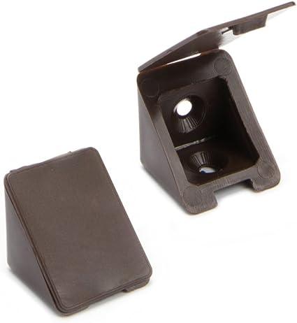 40 pz. 40 x Staffa Angolare//Angelo Retto Staffe//Staffe di Fissaggio 2 fori Colore: marrone   Sossai/® BT1 Materiale: Plastica