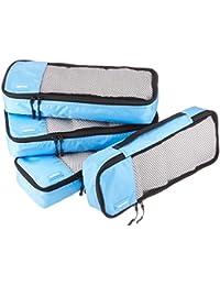 4-Piece Packing Cube Set - Slim, Sky Blue