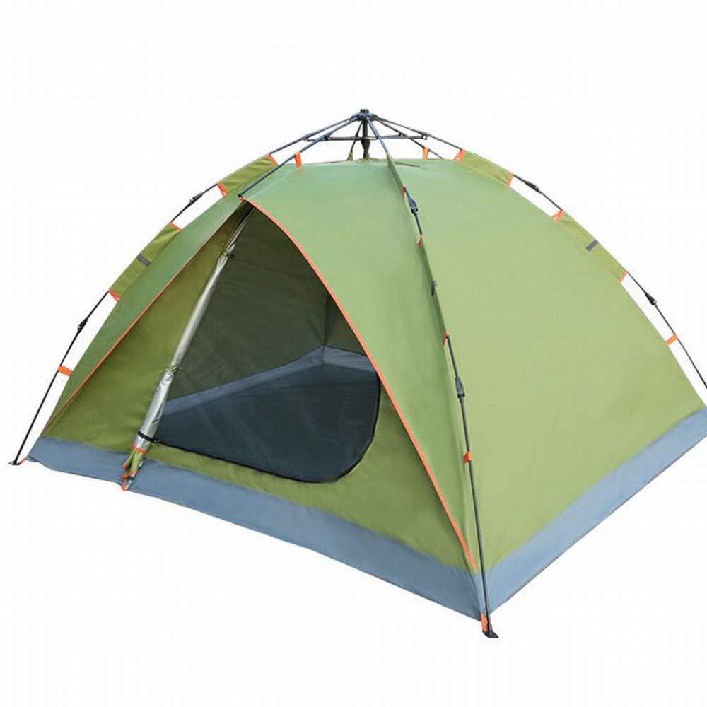 C.N. en Plein air Libre construit Tente Couple Double Tente Automatique Portable Multifonction Vitesse Ouvert Quatre Coins Parasol étanche,Armée Verte,1