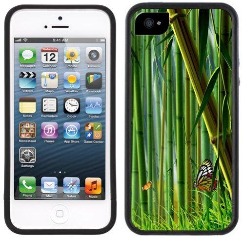 Bambus | Handgefertigt | iPhone 5 5 s | Schwarze Hülle |