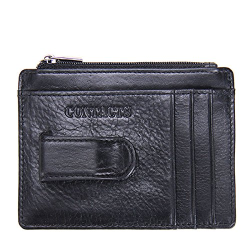Kukoo Men Genuine Leather Wallet Slim Money Clip Purse Credit Card Holder