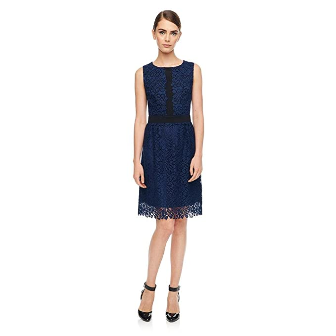 3457b904e98 Karl Lagerfeld Paris Lace Fit and Flare Dress Size 4  Amazon.ca  Clothing    Accessories