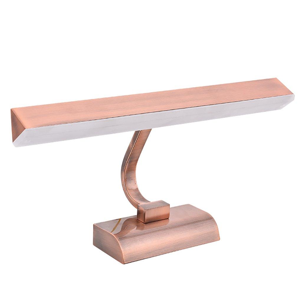 badezimmerlampe Badezimmer-Lichter-Spiegel-vorderes helles LED-Eitelkeit-Licht-einfaches Retro- Dressing-Spiegel-Kabinett-Lichter-Wand-Lampen-Bild-Scheinwerfer Schminklicht (Farbe   braun-42cm)