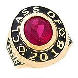 men class rings - 14k Gold July CZ Simulated Birthstone 2018 Graduation Mens Class Ring