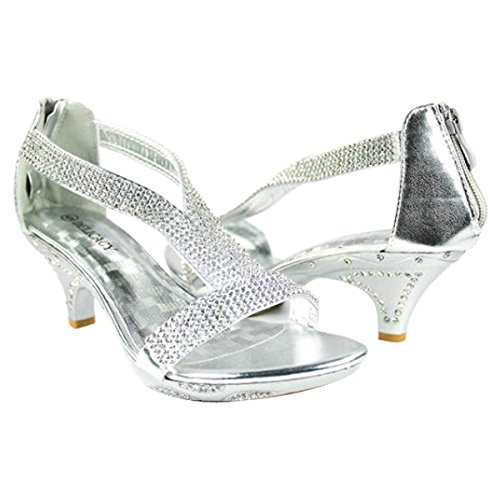 Heel JJF Rhinestone Evening Strap Dancing Silver Sandals Women Low T Delicacy Dress 7 Lety73 5 Shoes 0FxqpFwrIP