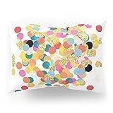 Society6 Gold & Colorful Confetti Pattern Pillow Sham Standard (20'' x 26'') Set of 2