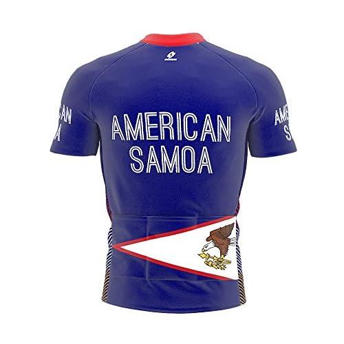 American Samoa Maillot cycliste à manches courtes pour hommes