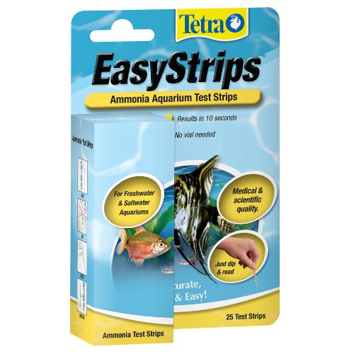 Tetra EasyStrips Ammonia Aquarium Test Strips, 25-Count