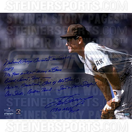 Steve Garvey San Diego Padres Stands Ready 16x20 Story Photo w Insc. (Signed in Blue)