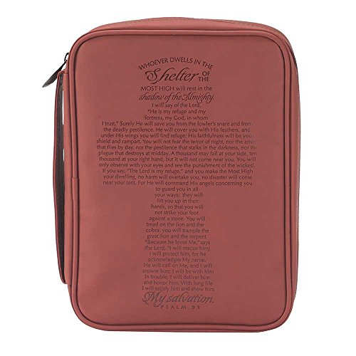 Psalm 91 Cross Bible Cover Thinline Size
