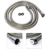 5M(197'') CHROME SHOWER HOSE / FLEXIBLE BATHROOM PIPE Stainless / 14 FEET