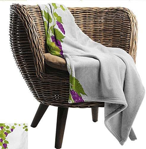 smllmoonDecor Hypoallergenic Blanket Vineyard Latin Brochure Label Italian Town Province Vintage Style Menu Sign Art Print Sofa Chair W70 xL93 Sofa,Picnic,Camping,Beach,Everyday use
