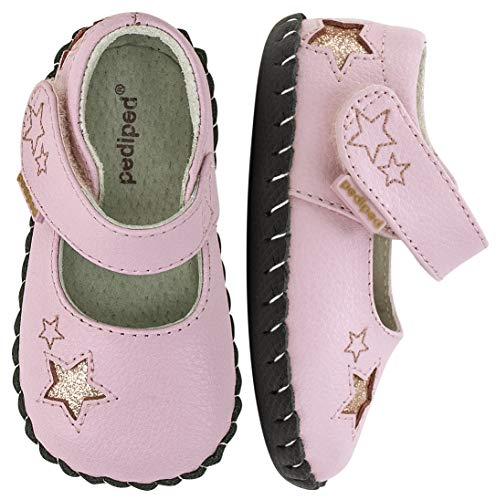 pediped Girls' Sophia Crib Shoe, Pink, 12-18 Months Child EU Infant (12-18 Months US)
