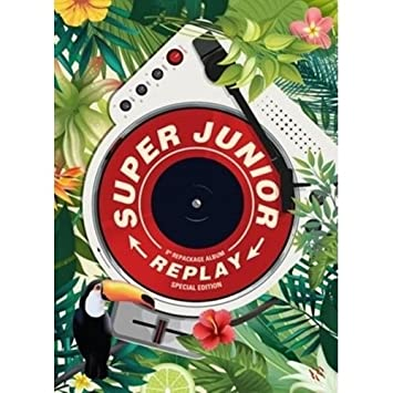 Super Junior - [Replay] 8th Repackage Album Special Edition CD+Booklet+PhotoCard