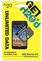 H2O Micro / Mini SIM Card for any Unlocked GSM Phone w/ $40 Airtime