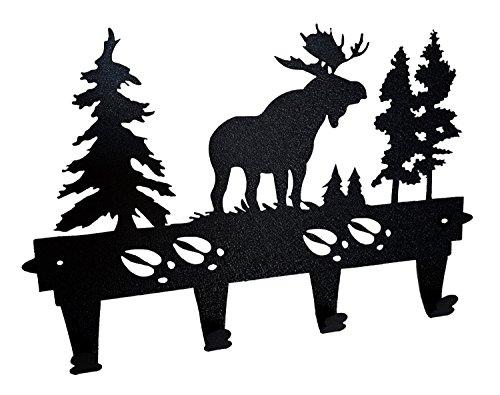 Moose Tracks Wall Mounted Coat and Hat Rack by Mustard Seed Metal (Moose Hook)