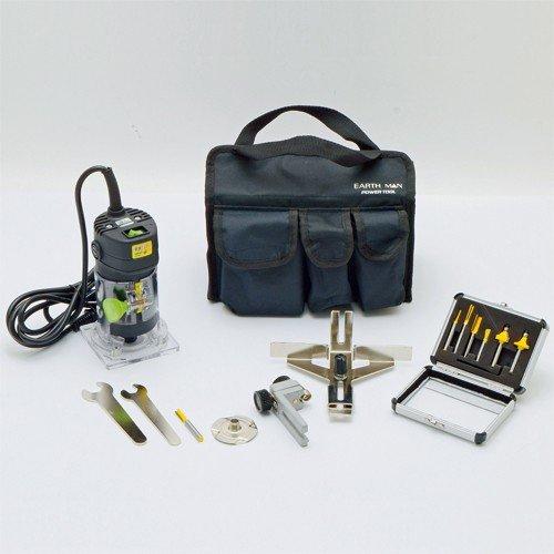 電動工具 トリマー TR-100 (ビット6種付) B077Y9SDTJ