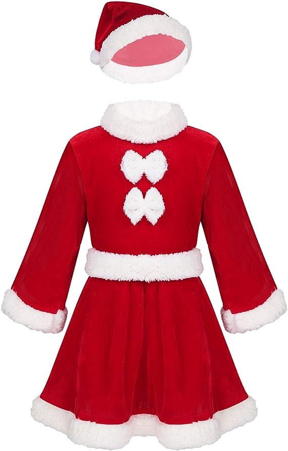 Freebily Disfraz Navidad Bebé Niña Conjunto Navideño de Papa Noel ...