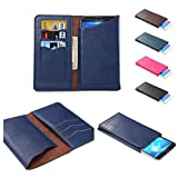 DFV mobile - Vertical Cover Premium PU Leather Case with Wallet & Card Slots for => BLU Studio 6.0 HD > BLUE