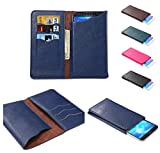 DFV mobile Vertical Cover Premium PU Leather Case with Wallet & Card Slots for = OPPO R1k  Blue