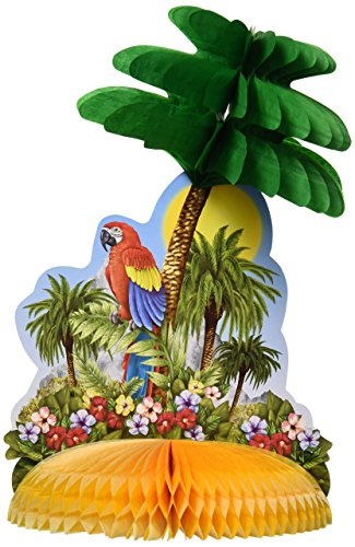 Tropical Island Centerpiece Party Accessory (1 count) (1/Pkg)