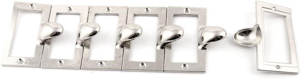 sourcingmap Tirador De Caja De Armario Archivador Met/álico Inicio Estilo De Etiqueta De Puerta Tono Plata 6Pcs