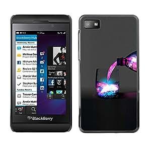 Espacio Galaxy Bebida - Metal de aluminio y de plástico duro Caja del teléfono - Negro - Blackberry Z10