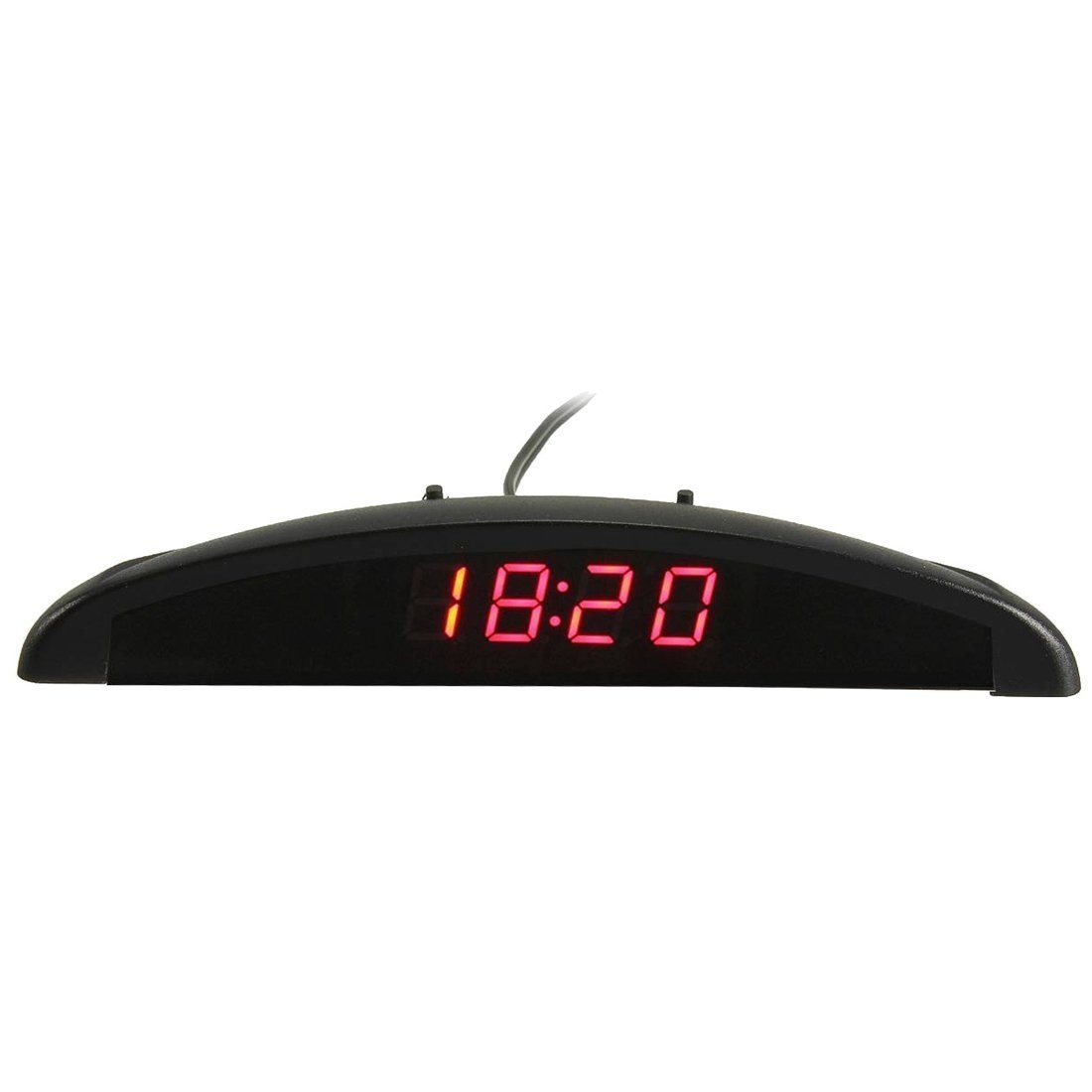 TOOGOO 3-en-1 voltmetre de numerique LED de tension 12 V de voiture montre thermometre de temperature bleu