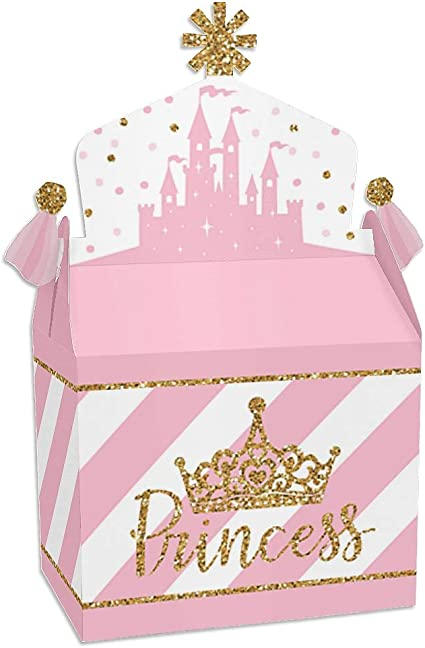 6 Children/'s Party Boxes Cute Princess Party Loot Treat Gift Goody Favour Box