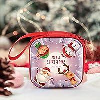 SmallPocket Caja de Caramelos de Navidad de Metal, decoración de Navidad, Caja de Almacenamiento de Metal, decoración de Cajas de Caramelos de Navidad – Funda para Trolley/Cuadrado Casual/Rectangular: Amazon.es: Hogar