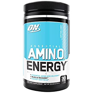 Optimum Nutrition Amino Energy, Cotton Candy, Preworkout and Essential Amino Acids with Green Tea and Green Coffee Extract, 30 Servings