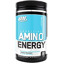 Optimum Nutrition Amino Energy with Green Tea and Green Coffee Extract, Flavor: Cotton Candy, 30 Servings