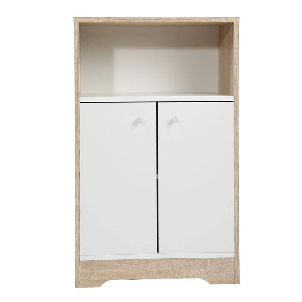 ROBTLE Free Standing Kitchen Cabinet, Multifunction Dining Hall Floor Storage China Cabinet with Bottom Enclosed Space & 2 Doors, 32x19.7x11.8inch by ROBTLE
