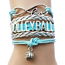 DOLON 11 Colors Volleyball Bracelet Jewelry- Volleyball Fans Lovers, Players,Coaches & Teams Gifts For Her or Him