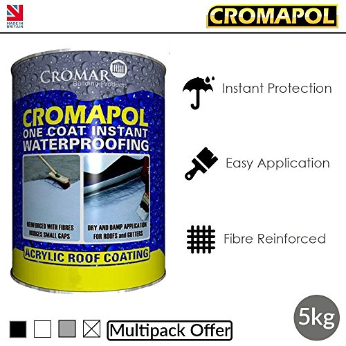 Cromapol | Acrylic Roof Coat | Roof Paint Sealant | Multipack | 4 Colours |...