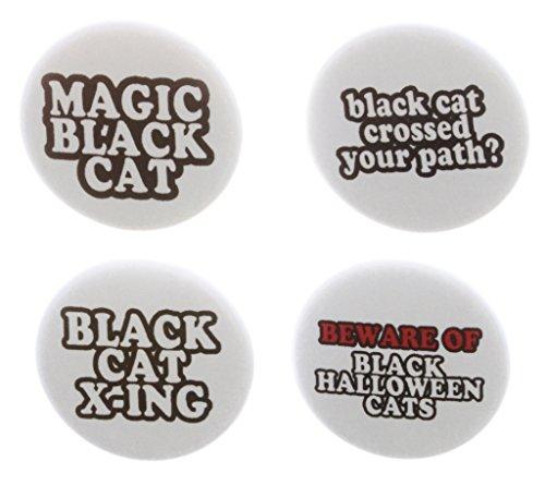 Set 4 Black Cat Themed 1.25