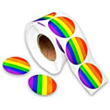 Gay Pride Rainbow Stickers on a Roll - Round Shaped (500 Stickers) - Support LGBT Causes