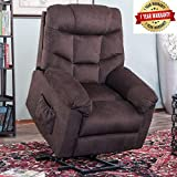 Harper&Bright Designs Power Lift Recliner Chair Upholstered Fabric with Remote Control for Living