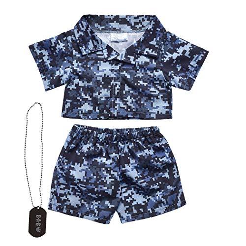 Build A Bear Workshop Navy Digital Camo Outfit 3 pc.]()