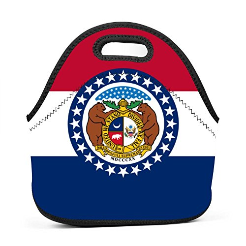 US Flag of Missouri Lunch Bag Bento Pouch Lunchbox Portable Baby Bag Multifunction Satchel Handbag for Outdoor Tour School Office Picnic -