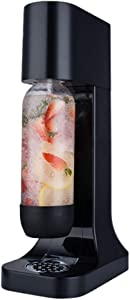 JIAWANSHUN Jet Sparkling Water Maker Bubble Machine with 2 Pressure Bottle Carbonator Not Included (Black)