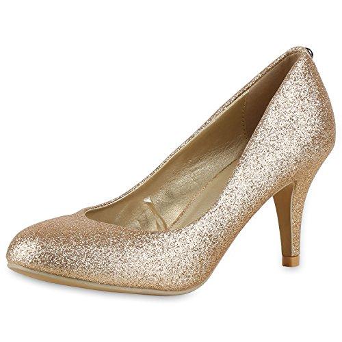 napoli-fashion - Cerrado Mujer Gold Gold Glitzer