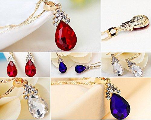 Hosaire-Necklace-Earrings-Diamond-Water-droplets-Elegant-Women-Jewellery-Set-of-Crystal-Pendant-NecklaceEarrings